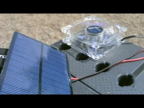 Solar Powering 12VDC Fans! (solar panel sizing and hookup) - Easy DIY