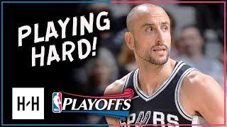 Manu Ginobili Full Game 4 Highlights Spurs vs Warriors 2018 Playoffs - 16 Pts, 5 Assists!