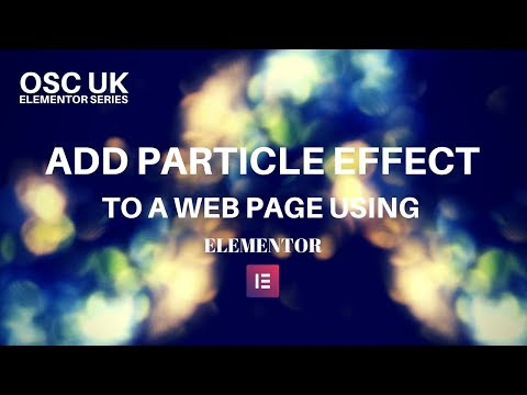 Add Particle effects to a web page using elementor