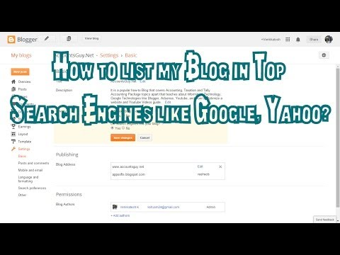 How to make your Blog visible to all Search Engines?