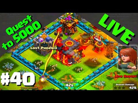 Clash of Clans ♦ LIVE Defenses ♦ Quest to 5000 Trophies #40! ♦ CoC ♦