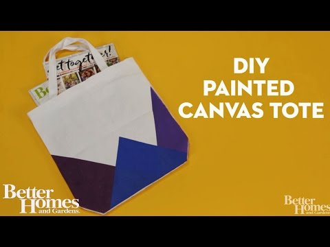 DIY Painted Canvas Tote
