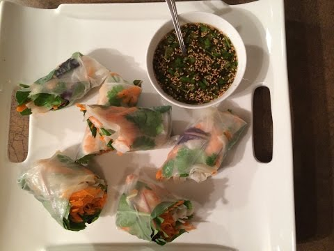 Srimp Spring Roll and Dipping Sauce
