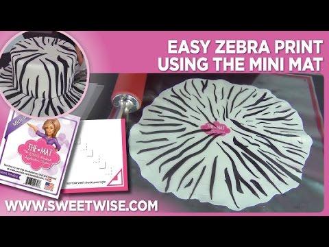 Easy Zebra Print Using the Mini Mat by www SweetWise com