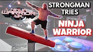 Strongman Tries Ninja Warrior   Ft Eddie Hall