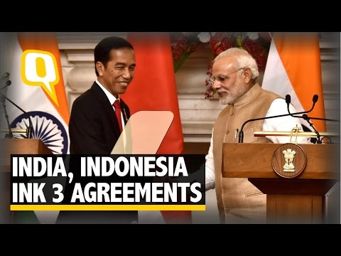 The Quint: India, Indonesia Ink 3 Pacts, Vow to Fight Terror, Human Trafficking