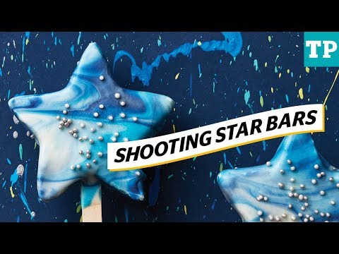 Galaxy party: How to make shooting star ice cream bars