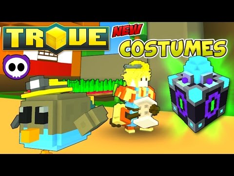 ALL CHAOS CORE CRAFTER COSTUMES IN TROVE (Check Description for Crafting Recipe)