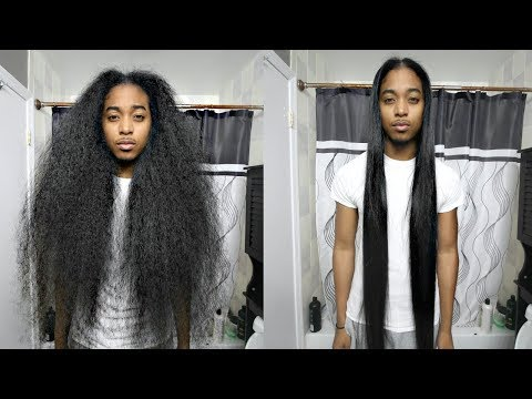 Curly to Straight Hair Tutorial   Gio's Wave