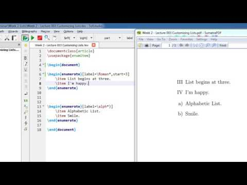 Week 2   Latex Tutorial   Lecture 002 Custom Bullets and Numbering Enumitem
