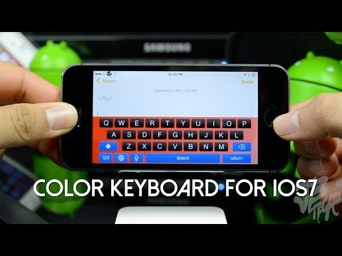 iOS 7 Jailbreak: Color Keyboard for iOS 7 - Customize your keyboard on iOS 7