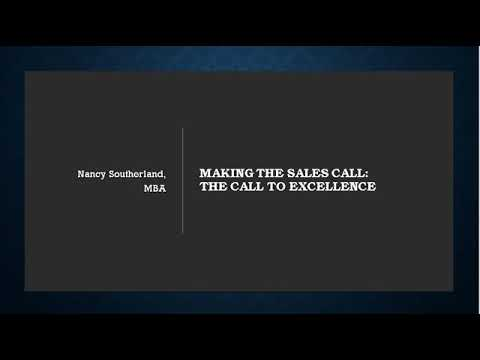 MKTG 3740 Making the Sales Call The Call to Excellence