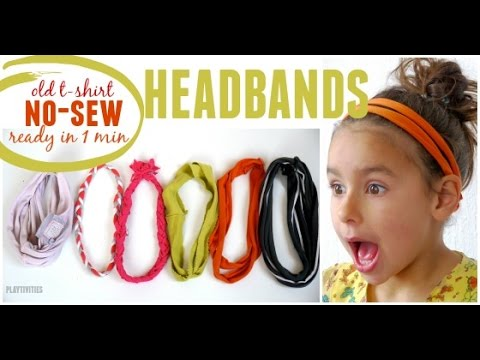 DIY Headbands from Old T-shirt. Now Sew.