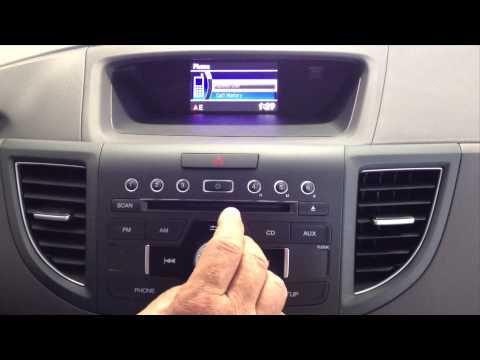 Honda CR-V How To Delete Bluetooth Phone