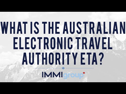 What is the Australian Electronic Travel Authority ETA?