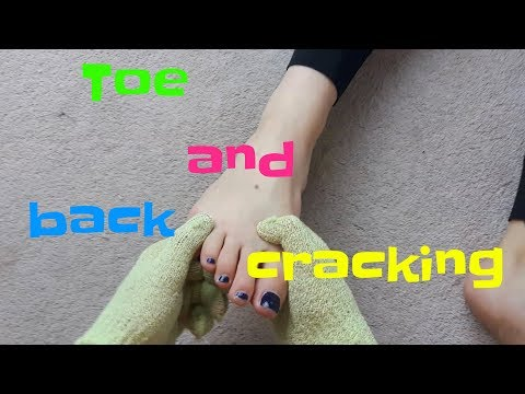 Toes and back cracking 1ST PERSON VIEW using massage gloves + some tips.