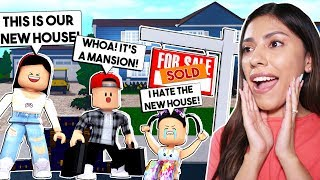 MOVING INTO OUR NEW HOUSE! *MY DAUGHTER HATES IT!* - Roblox - Bloxburg