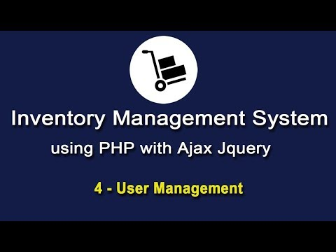 Inventory System in PHP using Ajax Jquery - User Management
