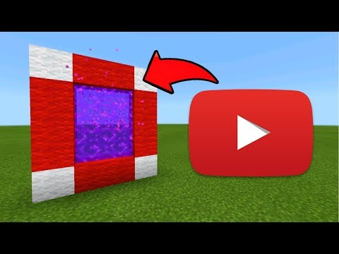 Minecraft Pe How To Make A Portal To The Youtube Dimension - Mcpe Portal To The Youtube!!!