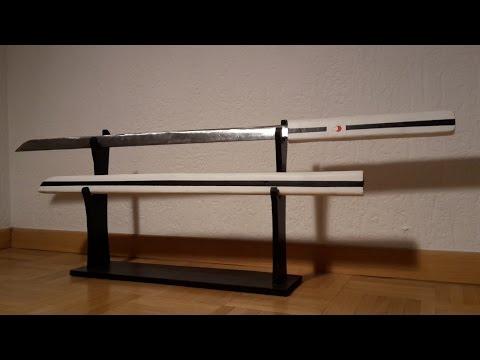 How to make Sasuke's sword with a steel blade ( Naruto ) !- Free templates