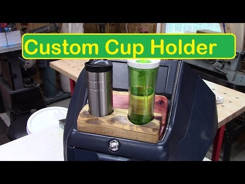 Custom Cup Holder out of Firewood~DIY