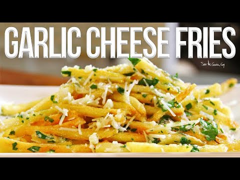 The Best Garlic Cheese Fries recipe by SAM THE COOKING GUY