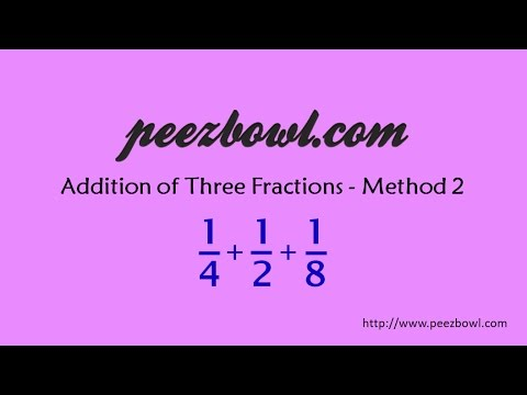 Addition of three fractions by LCM (Method - 2)