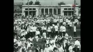 1940, Всесоюзный день Авиации. Москвичи спешат на Тушинский аэродром