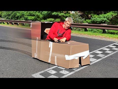 BOX FORT RACE CAR!!