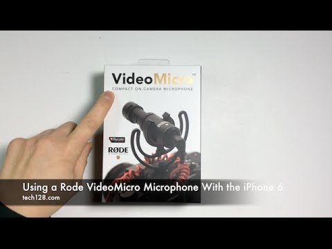 Using a Rode VideoMicro Microphone With the iPhone 6