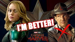 Download ANOTHER RANT! BRIE LARSON COMPARES CAPTAIN MARVEL TO INDIANA JONES Video