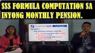 PANOORIN ANG SAMPLE NG PAG-COMPUTE SA INYONG SSS MONHTLY PENSION.