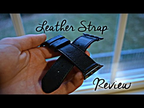Leather Apple Watch Strap Review [OleksynPrannyk]