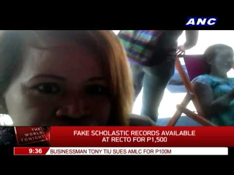 How much fake documents sell in Recto