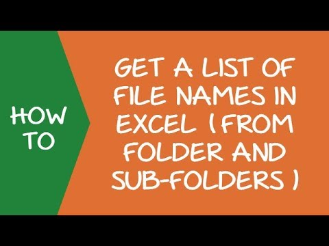 Get a List of File Names from Folders & Sub-folders in Excel (using Power Query)