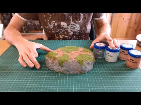 How to make simple plateau hills for wargaming