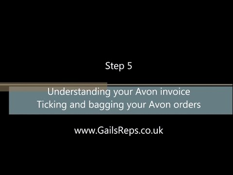 New To Avon Step 5 Understanding your Avon invoice