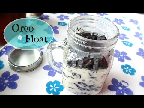 Oreo Float In A Jar