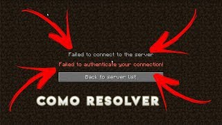 Minecraft failed to authenticate connection FIX* 2018
