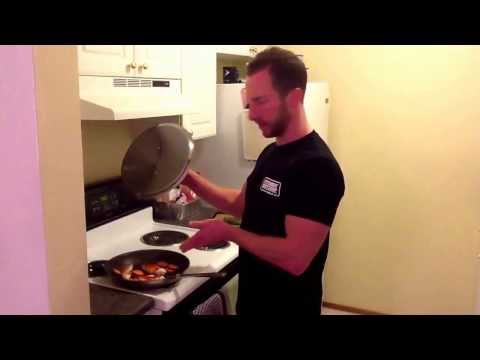 Lazy cooking!  Healthy chicken in a skillet/pan/on the stove