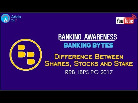 Banking Awareness | Difference Between Shares,Stocks and Stake | Online Coaching for SBI