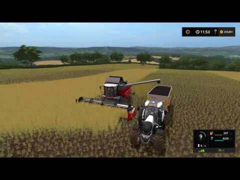 Farming simulator 17 - Harvesting canola |  Coldborough Park Farm ep.13