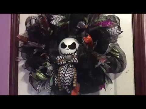 Making a Halloween wreath
