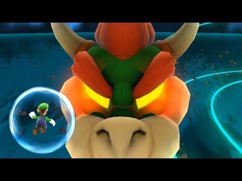 Super Luigi Galaxy - All Bowser Levels