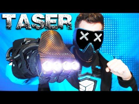 Punch Activated TASER Electrocutioner Gauntlet / Avatar Equalist Glove - w/ BoXZY