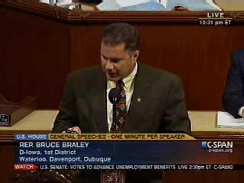 Braley Floor Speech on Extending Unemployment Benefits