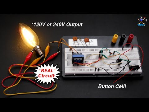 How To Really Make AAA (1.5V) Battery To 220V AC Inverter