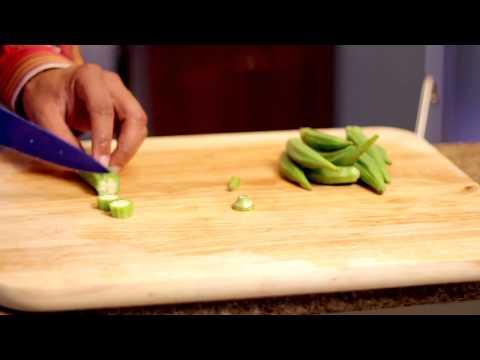 How to Cut Fresh Okra