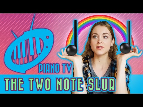 The Two-Note Slur: Beginner Piano (Bartok - First Term at the Piano)