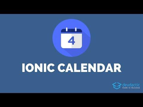 How to build an Ionic Calendar App